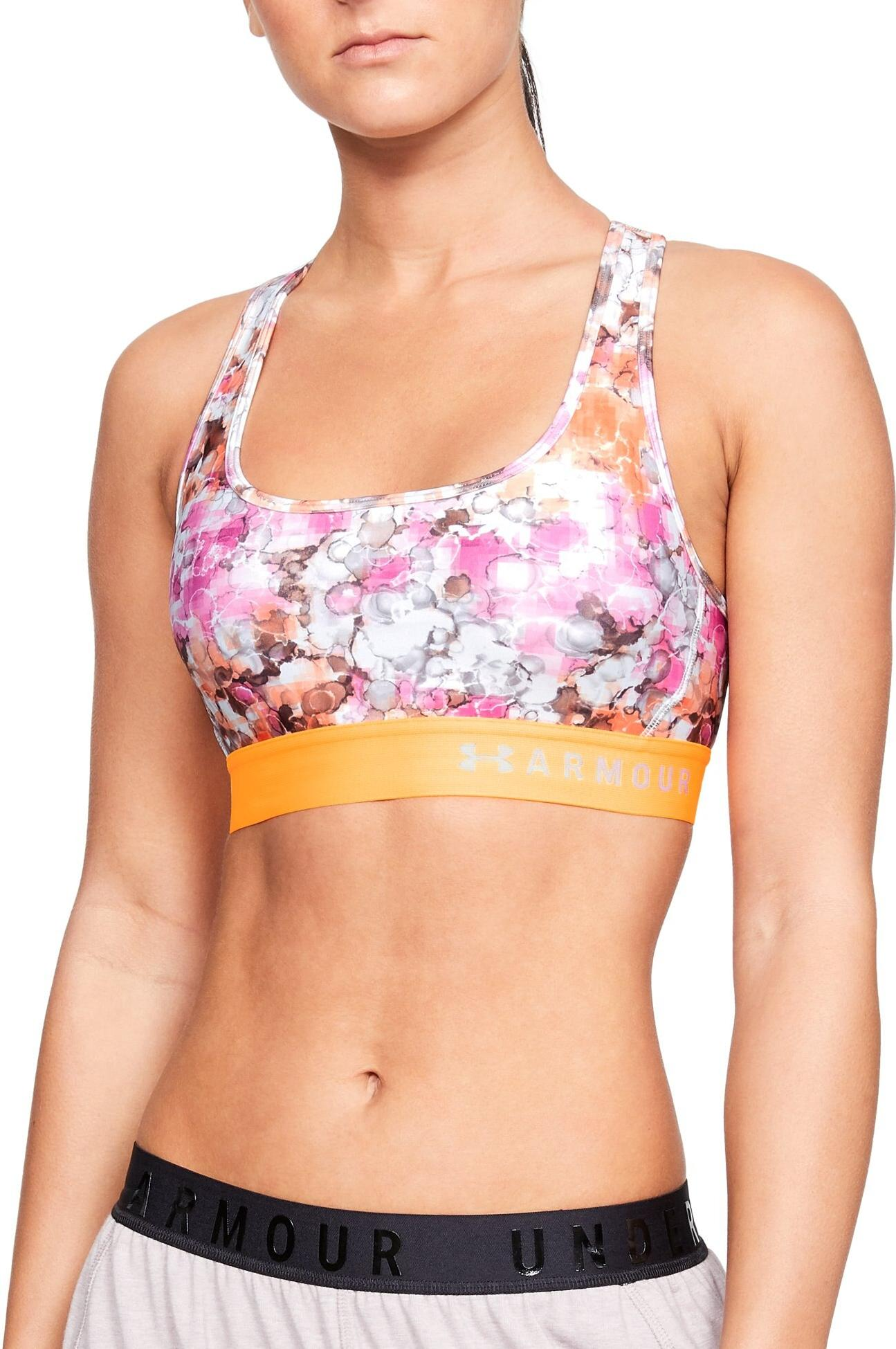 Grudnjak Under Armour Armour Mid Crossback Printed Bra